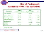 use of partograph evidence who trial continued