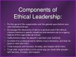 components of ethical leadership