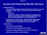 access and financing abortion services