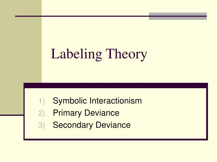 labeling theory n.