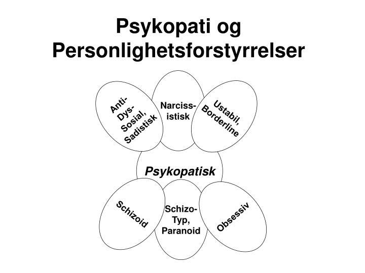 Psykopati og Personlighetsforstyrrelser