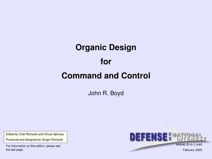 organic design for command and control n.