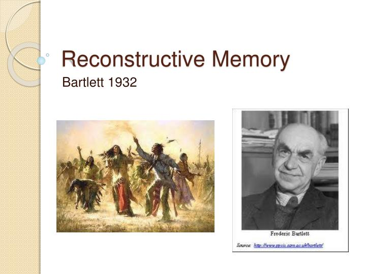 reconstructive memory In both cognitive science and folk psychology, the dominant metaphor for memory - a metaphor that both reflects and reinforces a certain way of thinking about it - is the metaphor of storage and retrieval (often with a search in the middle) there's one particular aspect of this.