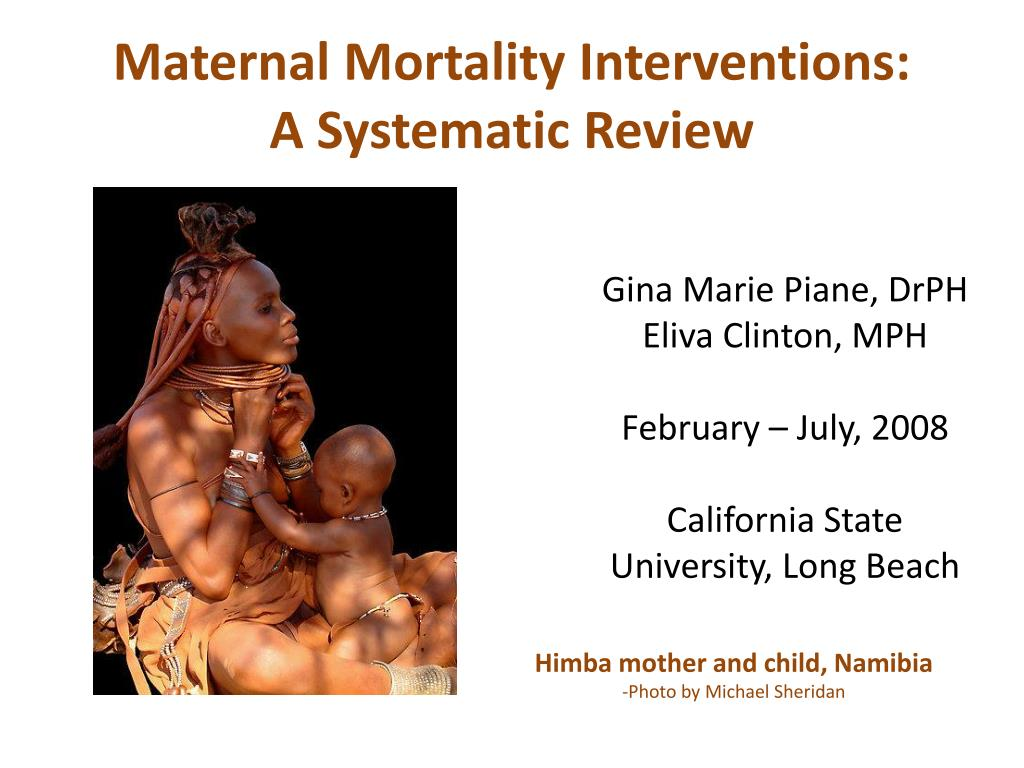 maternal mortality interventions a systematic review l.