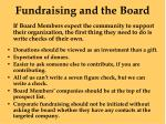 fundraising and the board