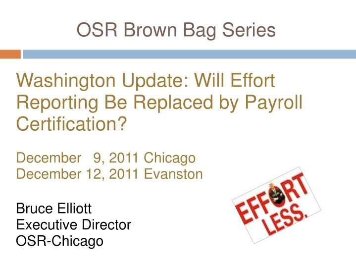 osr brown bag series n.