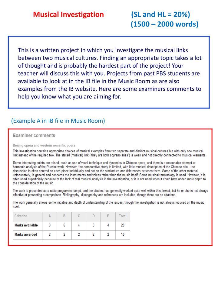 Musical Investigation