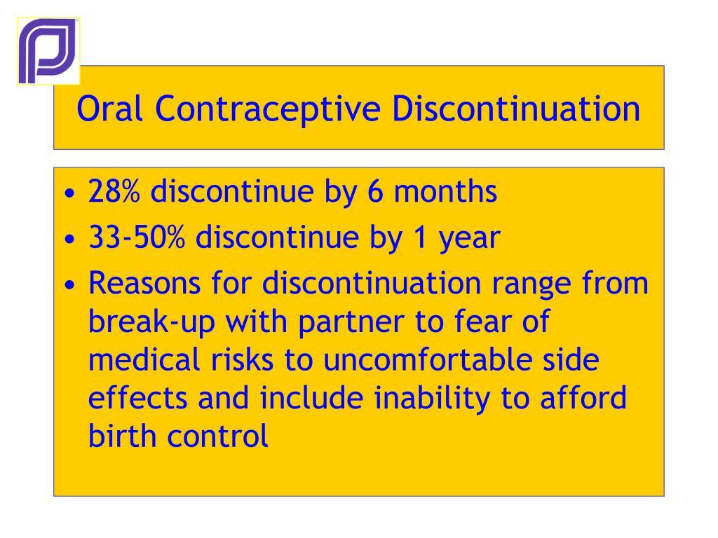 Oral Contraceptive Discontinuation