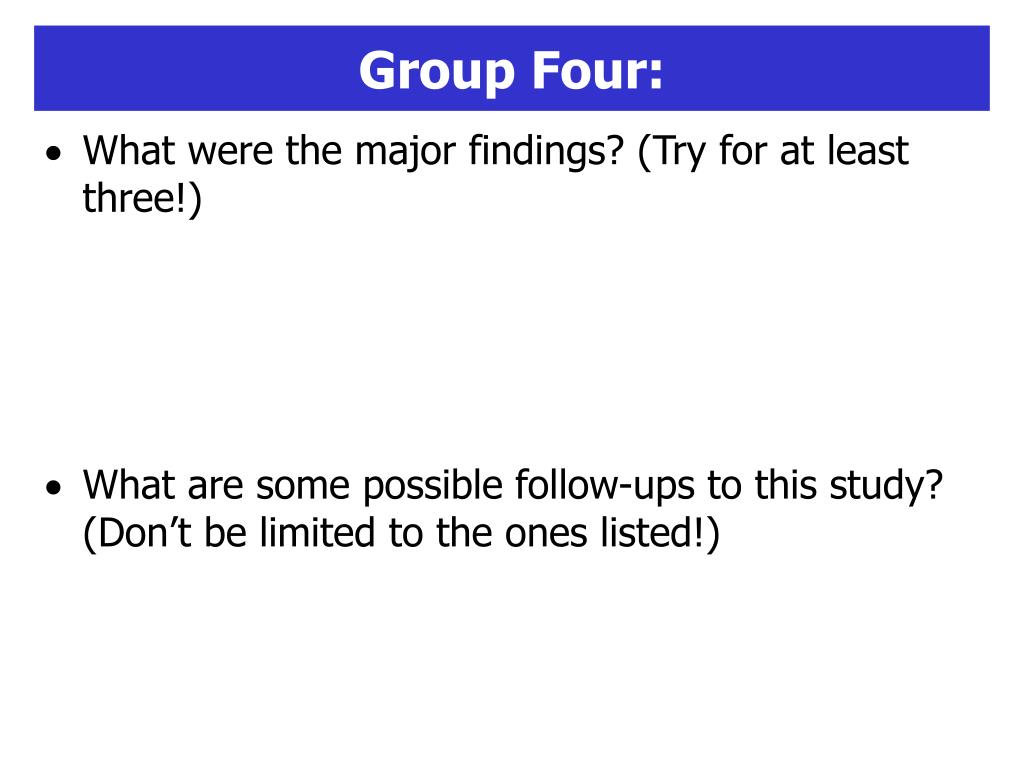 Group Four: