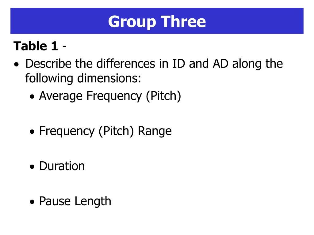 Group Three