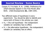 journal review some basics