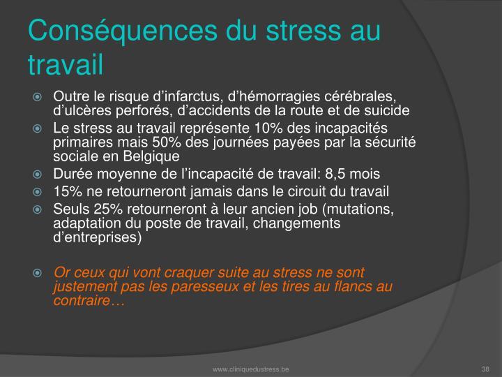 Conséquences du stress au travail