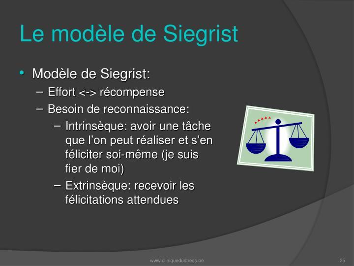 Le modèle de Siegrist
