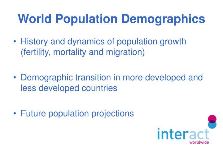 World population demographics