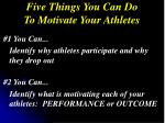 five things you can do to motivate your athletes