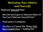 motivating your athletes and yourself