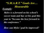 s m a r t goals are measurable