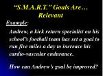 s m a r t goals are relevant