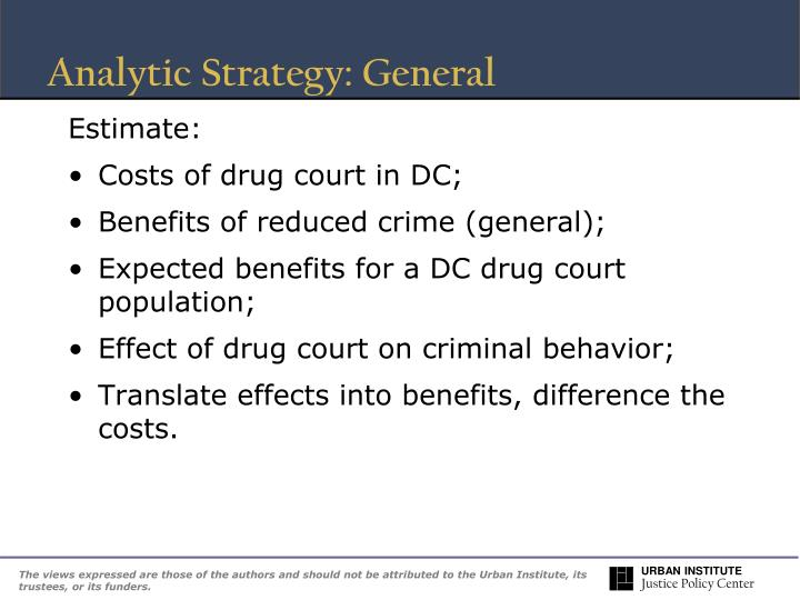 Analytic Strategy: General