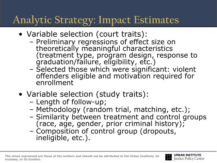 Analytic Strategy: Impact Estimates