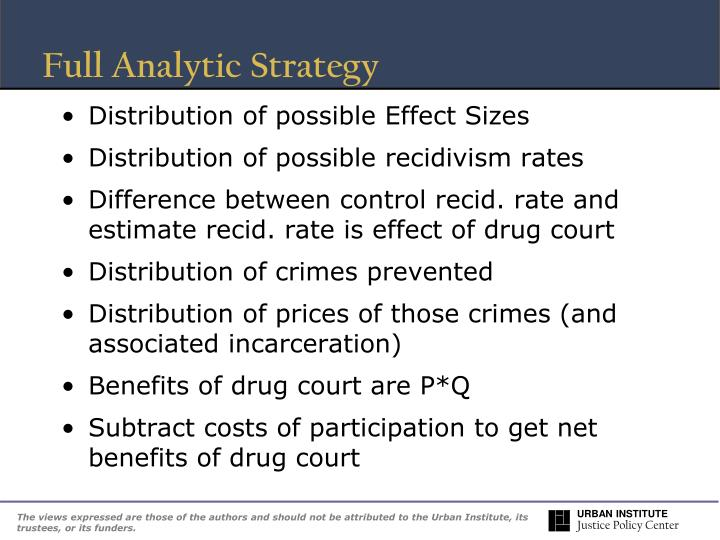 Full Analytic Strategy