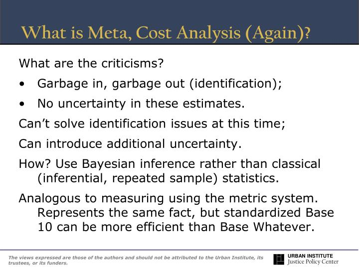 What is Meta, Cost Analysis (Again)?