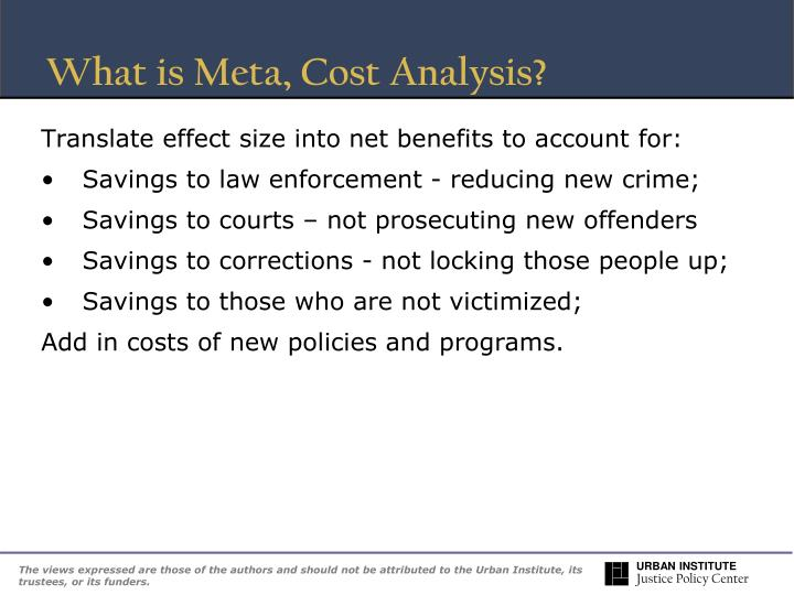 What is Meta, Cost Analysis?