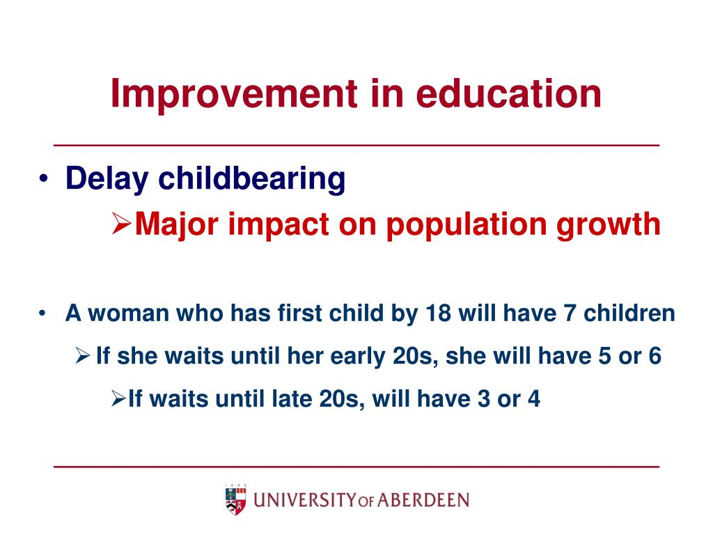 Improvement in education