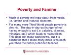 poverty and famine