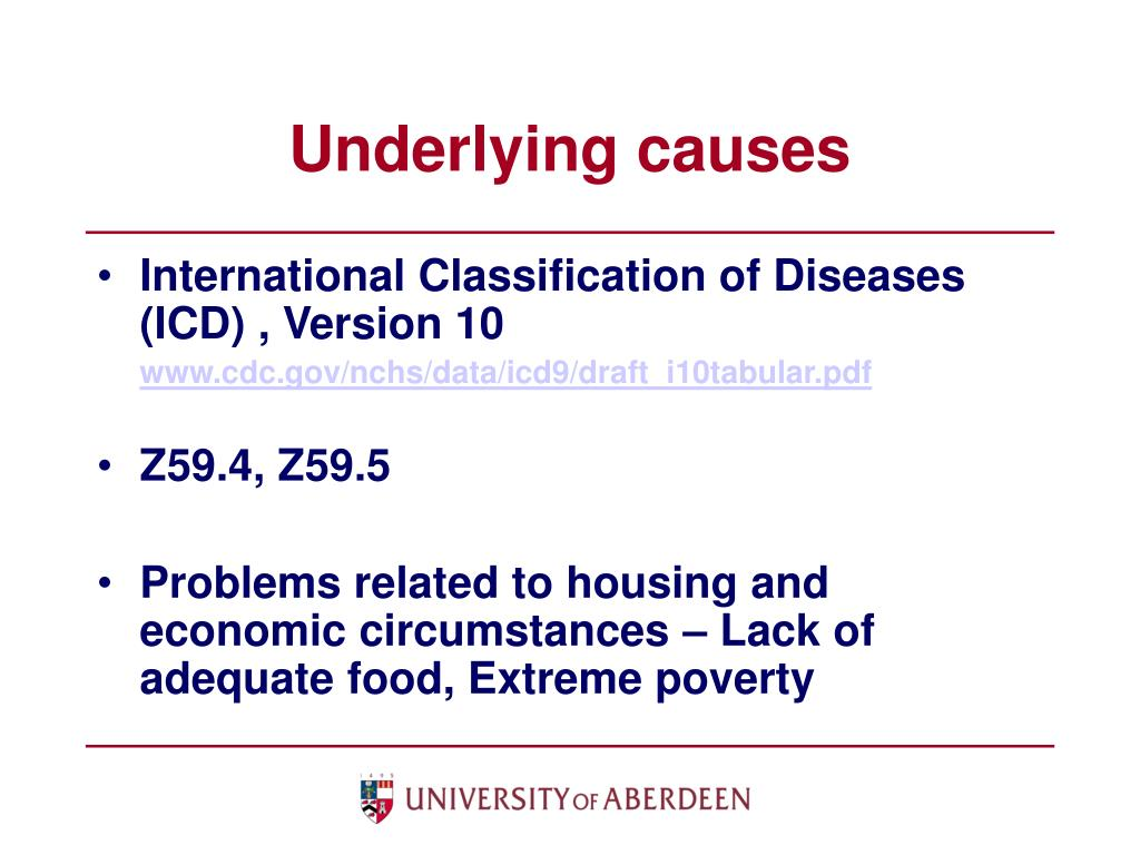 Underlying causes