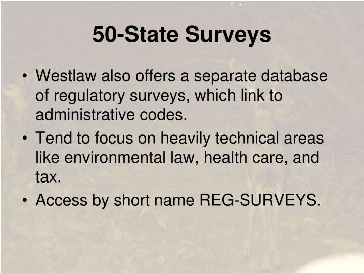 50-State Surveys