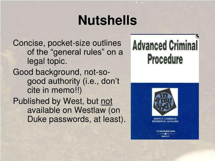 Nutshells