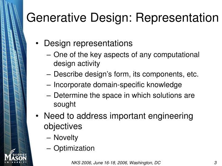 Generative design representation