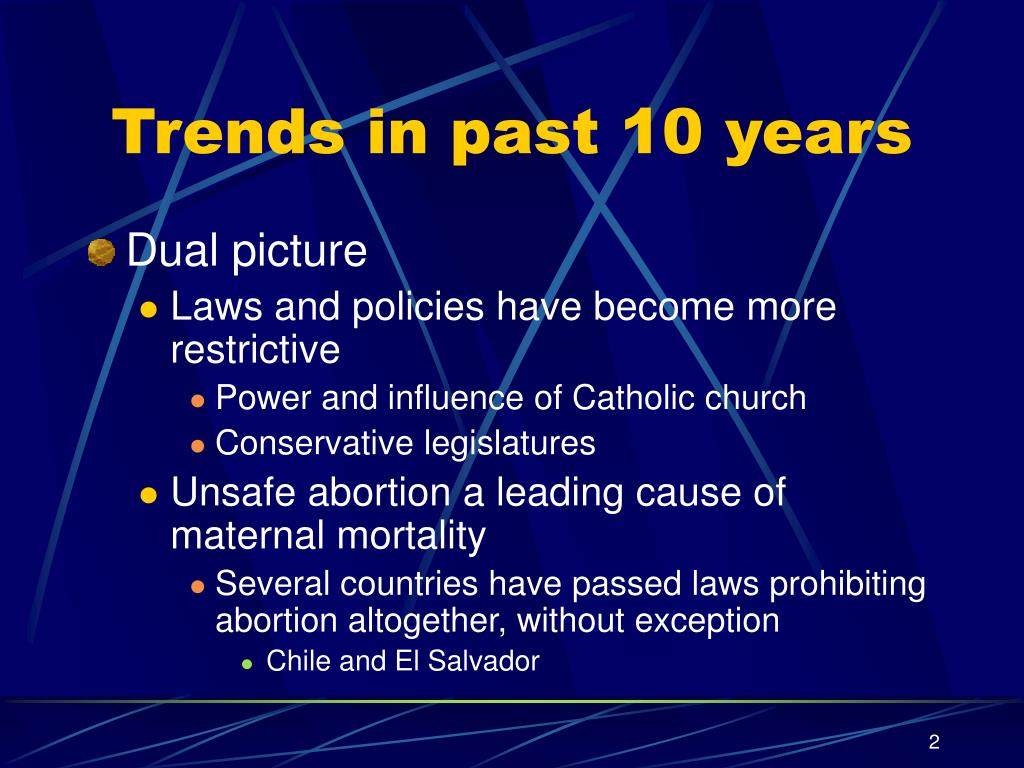 Trends in past 10 years