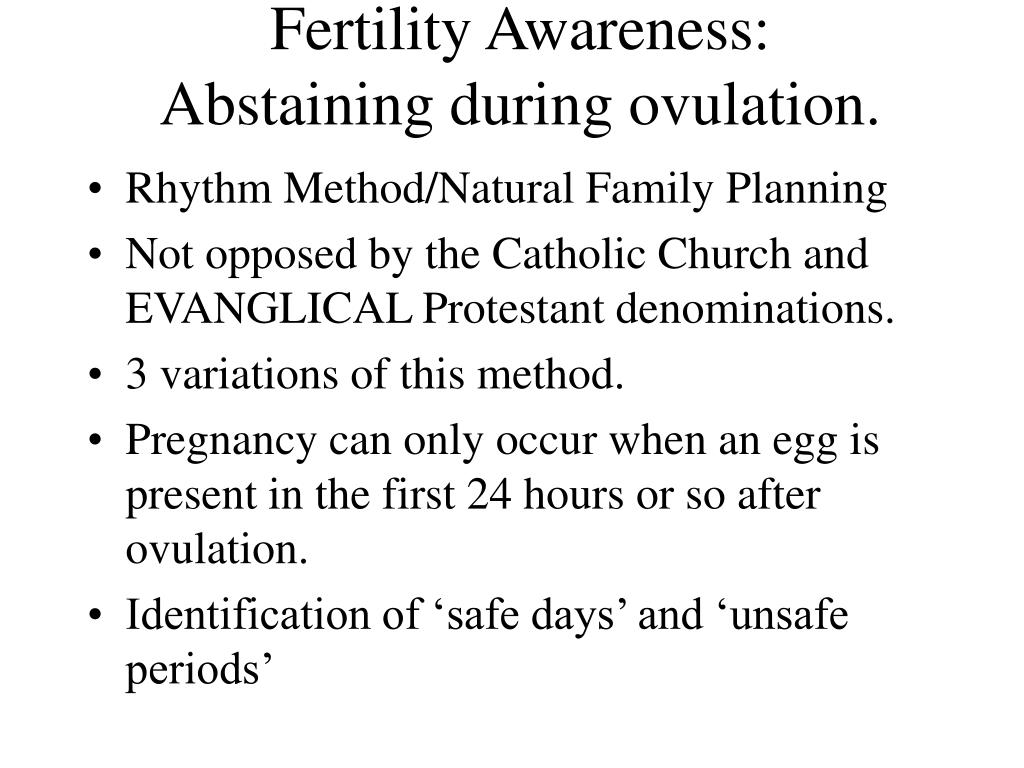 Fertility Awareness: