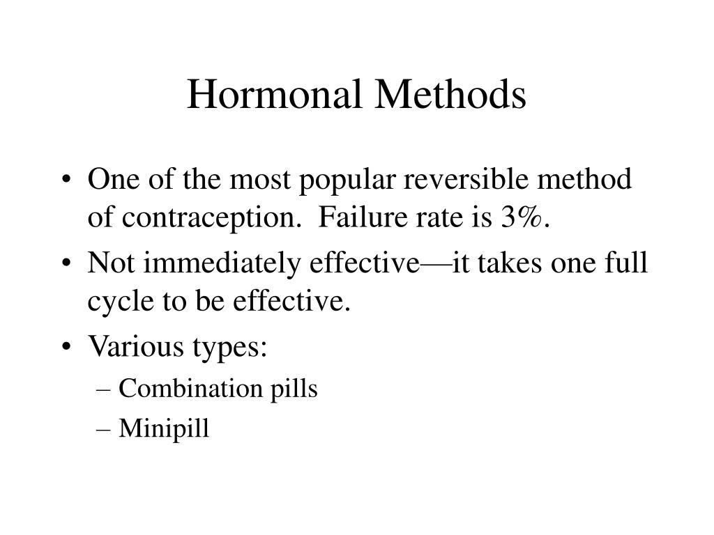Hormonal Methods
