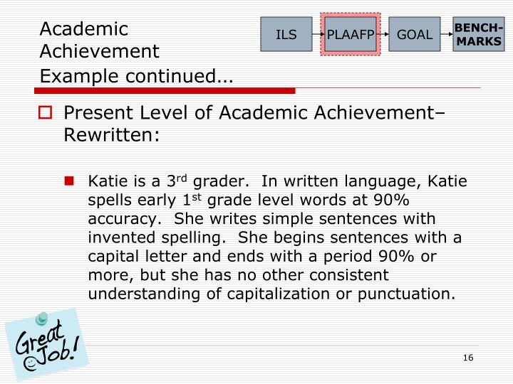 academic-achievement-example-continued-n Old Written Letter Template on