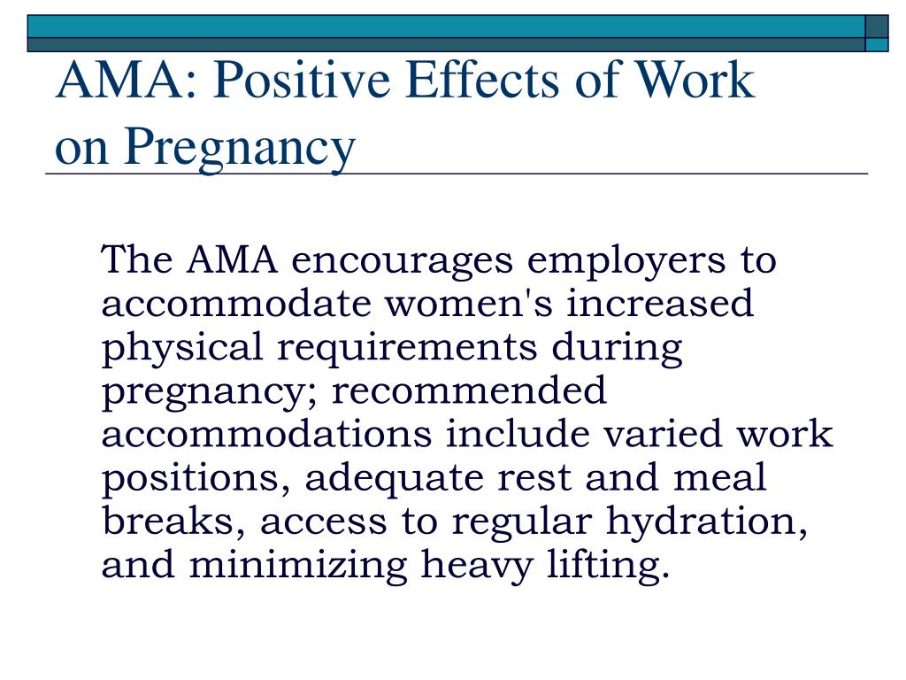 AMA: Positive Effects of Work