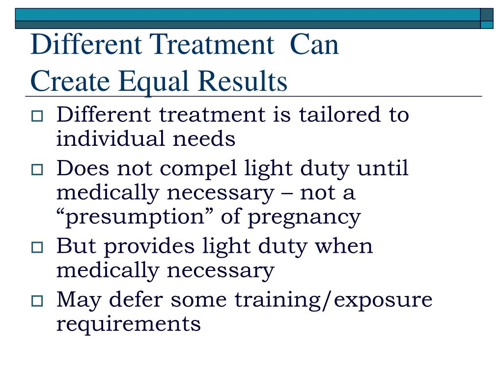 Different Treatment  Can