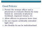 good policies63