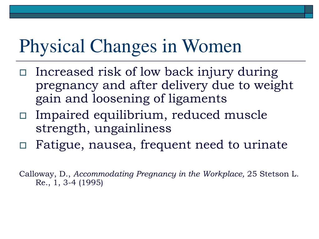 Physical Changes in Women