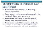the importance of women in law enforcement