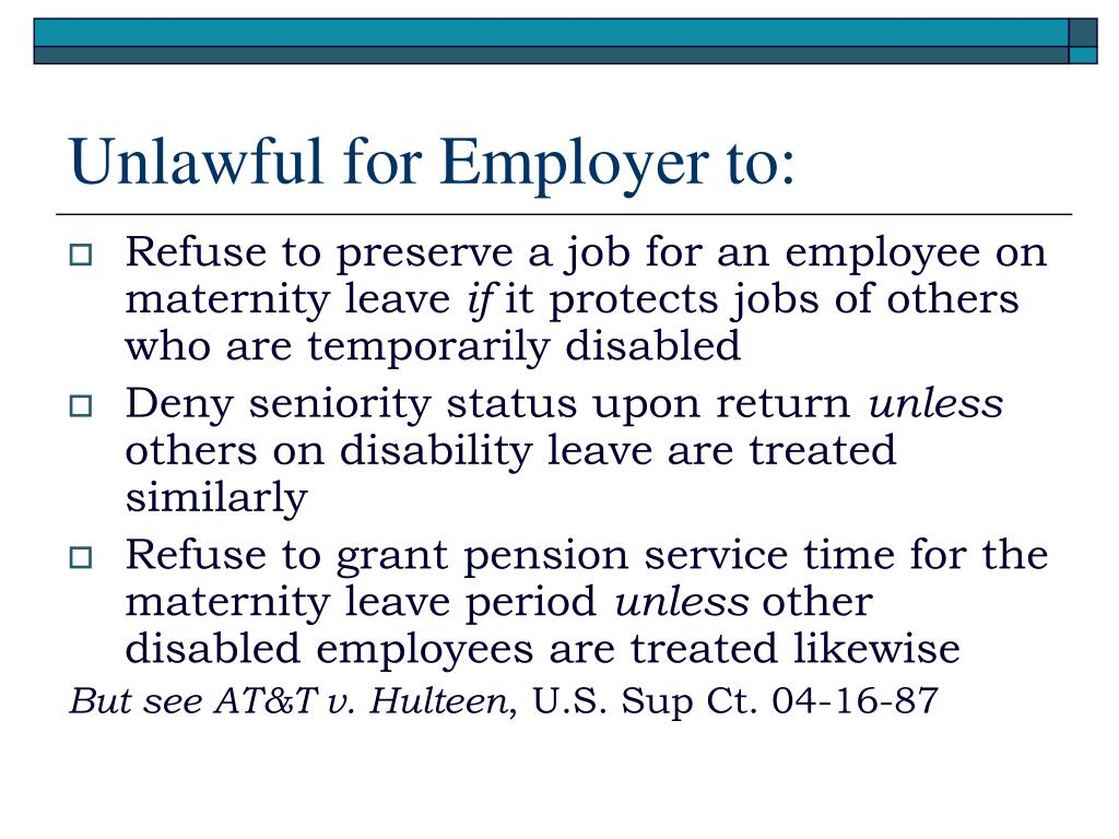 Unlawful for Employer to: