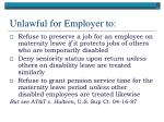 unlawful for employer to