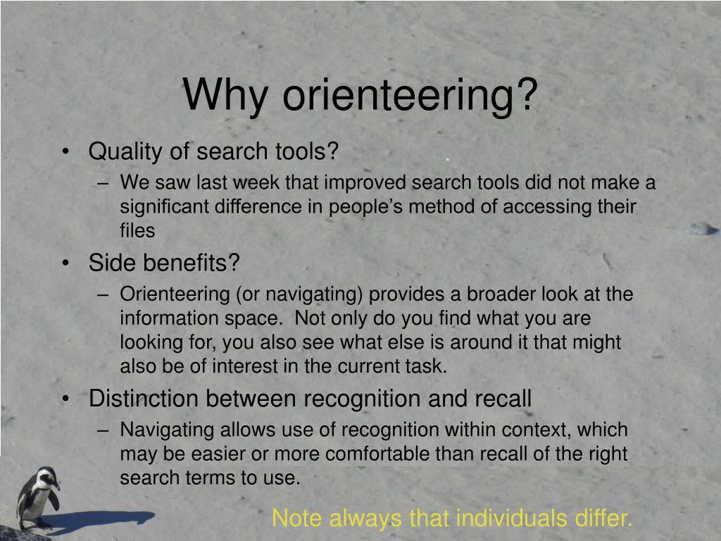Why orienteering?
