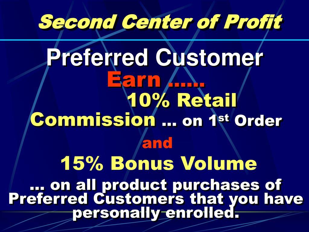 Second Center of Profit