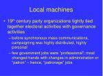 local machines