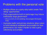 problems with the personal vote
