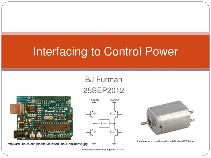 interfacing to control power n.