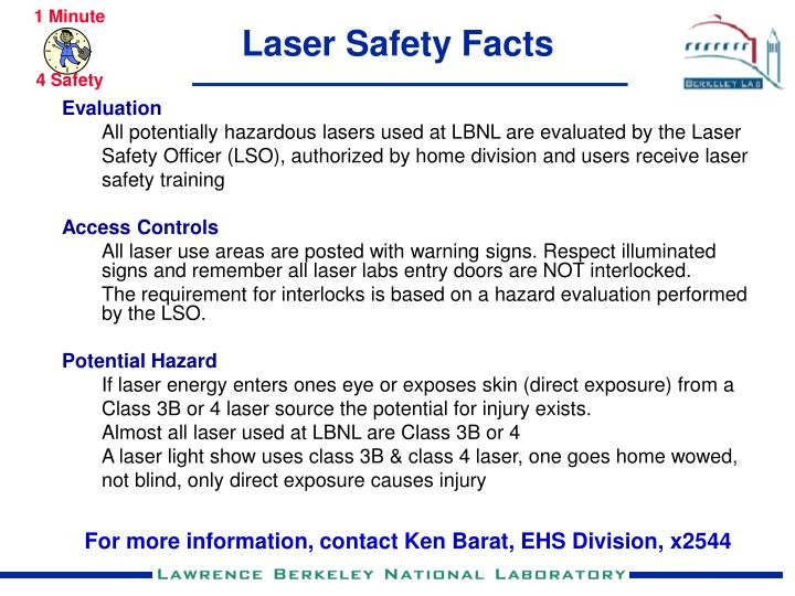 laser safety facts n.